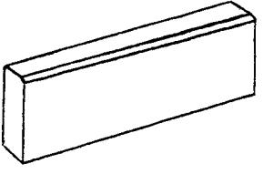 Камень бортовой (тротуарный)