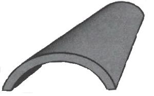Черепица коньковая