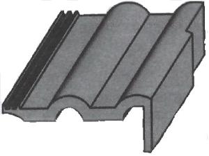 Черепица фронтонная